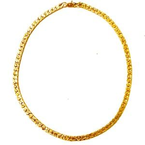 Vintage Gold Nugget Chain Necklace